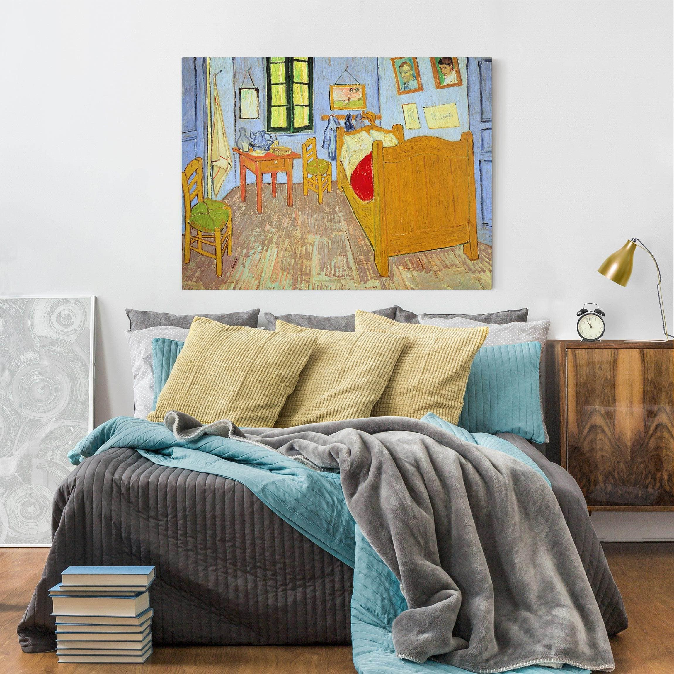 leinwandbild vincent van gogh van goghs schlafzimmer in arles quer 3 4. Black Bedroom Furniture Sets. Home Design Ideas