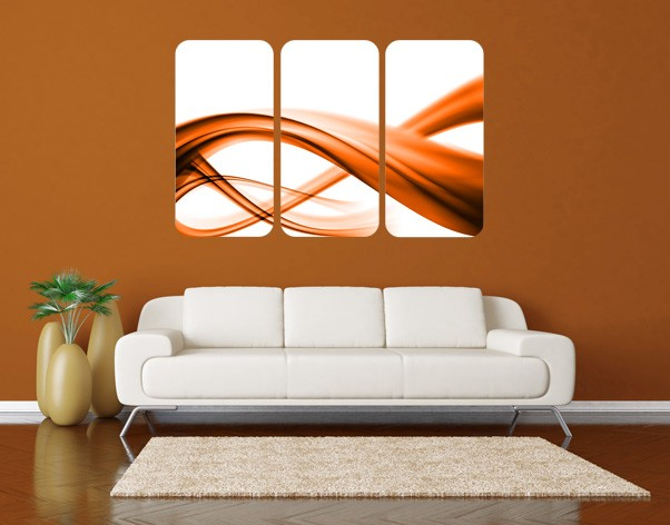 Produktfoto Selbstklebendes Wandbild Orange Element No.2 Triptychon