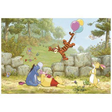 Immagine del prodotto Carta da parati per bambini - Winnie the Pooh mongolfiera - Fotomurale
