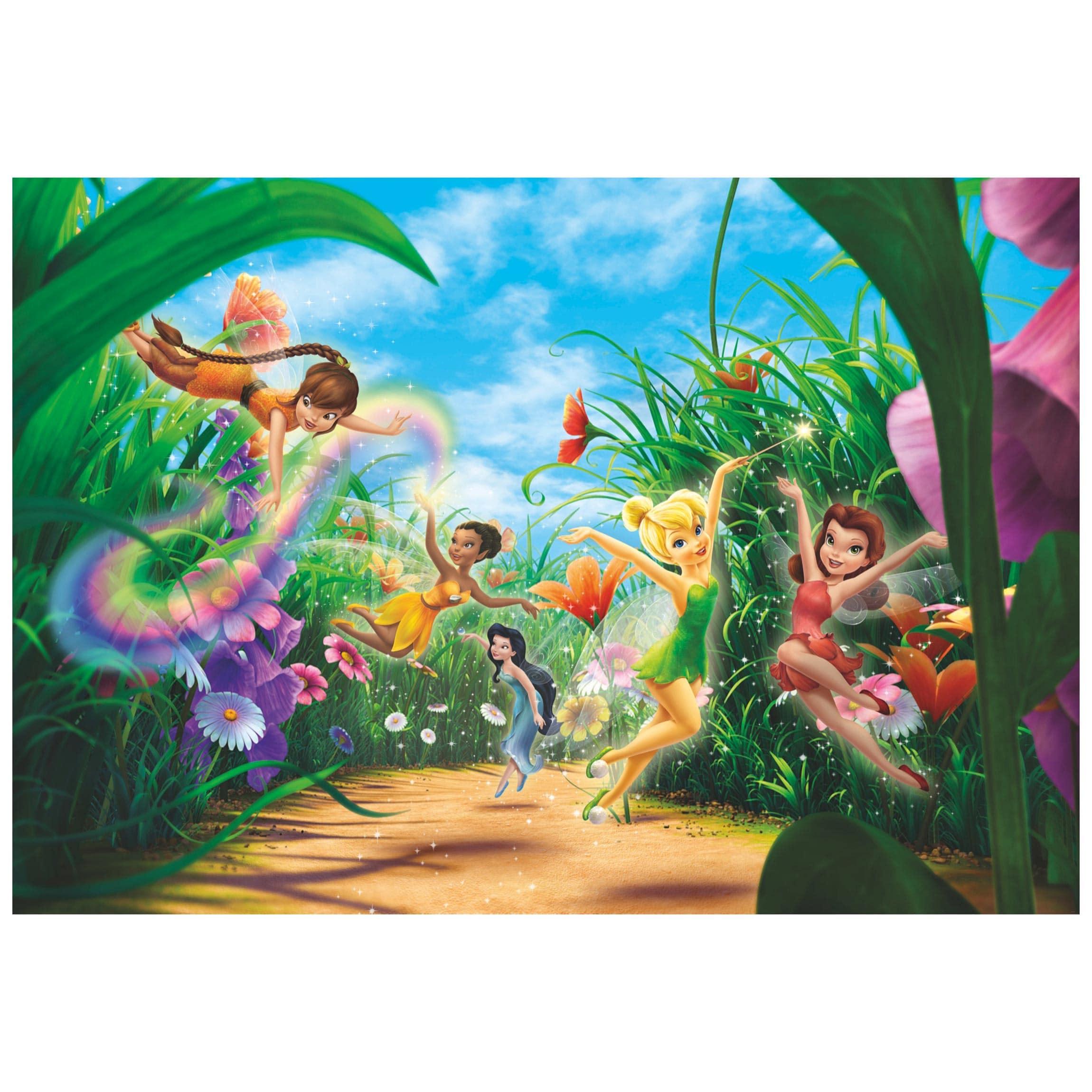 Carta Da Parati Prato.Carta Da Parati Per Bambini Disney Fairies Prato Fotomurale