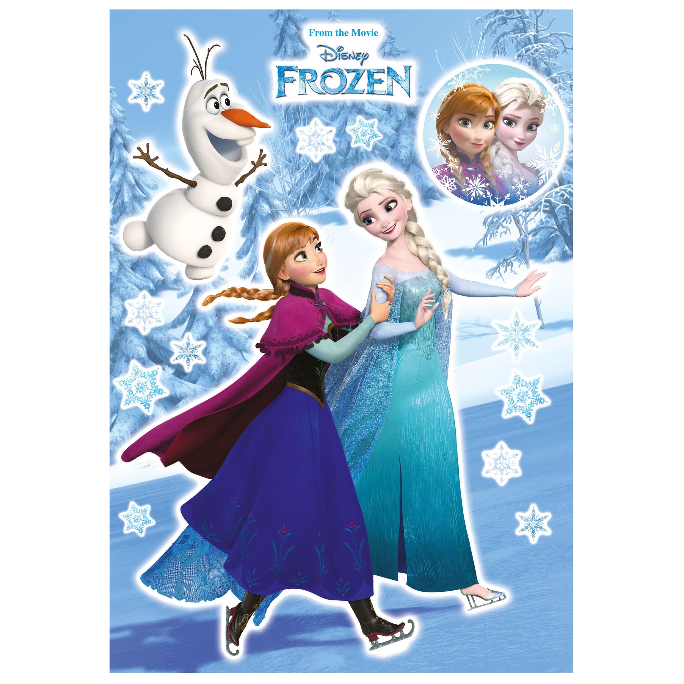 Die Eiskönigin Wandtattoo - Anna und Elsa - Disney - Komar Deco-Sticker
