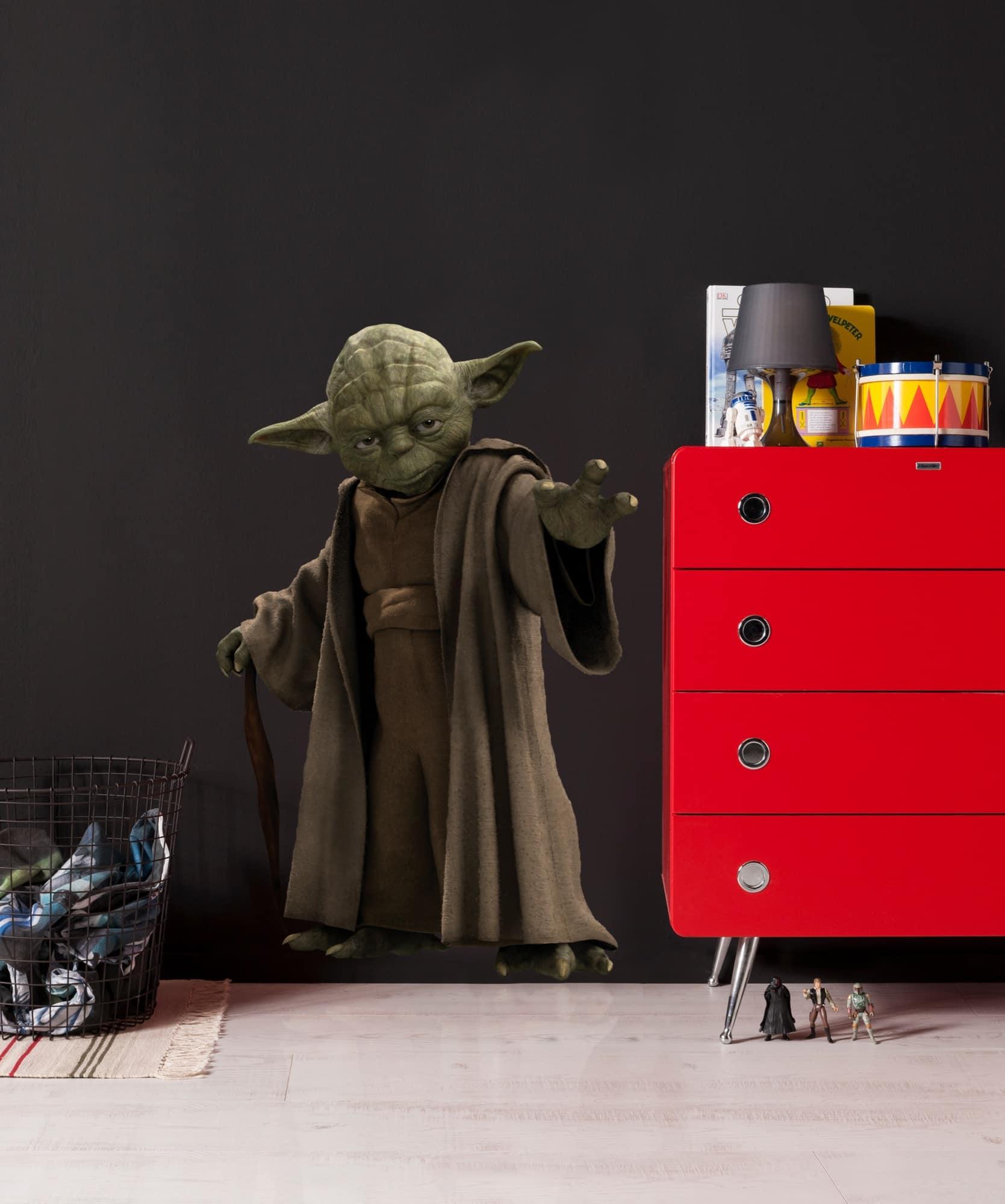 star wars wandtattoo yoda komar deco sticker. Black Bedroom Furniture Sets. Home Design Ideas