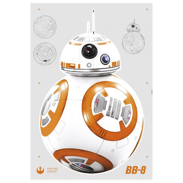 Produktfoto Star Wars Wandtattoo - BB-8 - Komar Deco-Sticker