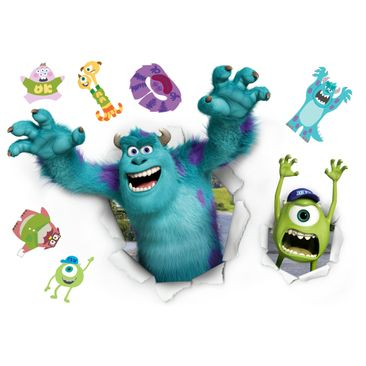 Produktfoto Disney's Die Monster Uni Wandtattoo - Monster Set - Komar Deco-Sticker