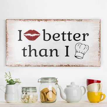 Product picture Canvas Art - No.Ka29 I Kiss Better -...