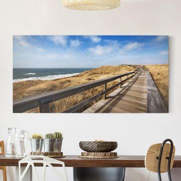 Produktfoto Leinwandbild - Nordseespaziergang - Quer 1:2, vergrößerte Ansicht in Wohnambiente, Artikelnummer 211383-XWA