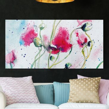 Produktfoto Leinwandbild - Painted Poppies - Quer...