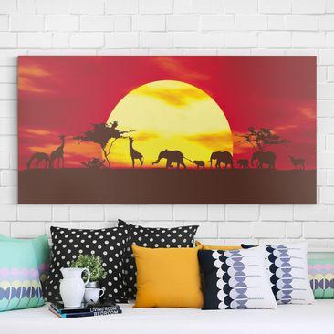 Produktfoto Leinwandbild - Sunset Caravan - Quer 1:2