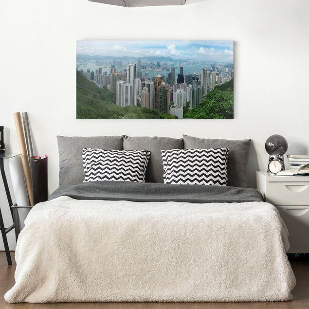 Produktfoto Leinwandbild - Watching HongKong - Quer...
