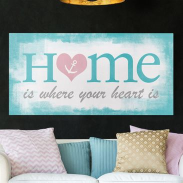 Immagine del prodotto Stampa su tela - Home Is Where Your Heart Is - Orizzontale 1:2