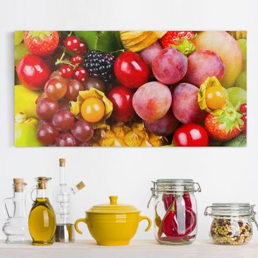 Produktfoto Leinwandbild - Colourful Exotic Fruits -...