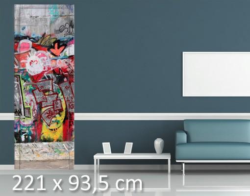 Produktfoto Kinderzimmer Türtapete selbstklebend - Graffiti II