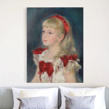Produktfoto Leinwandbild - Auguste Renoir - Mademoiselle Grimprel mit rotem Haarband - Hoch 4:3, vergrößerte Ansicht in Wohnambiente, Artikelnummer 211639-XWA