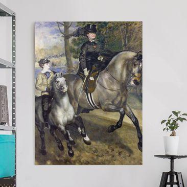 Produktfoto Leinwandbild - Auguste Renoir - Reiter im Bois de Boulogne - Hoch 4:3, vergrößerte Ansicht in Wohnambiente, Artikelnummer 211641-XWA