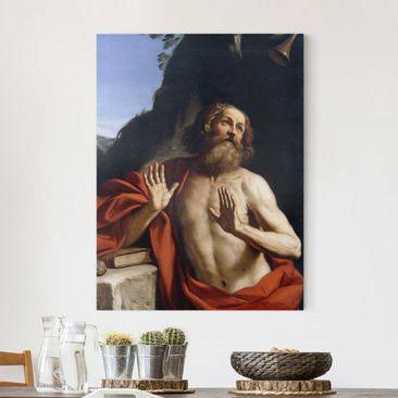 Immagine del prodotto Stampa su tela - Guercino - San Girolamo nel deserto - Verticale 4:3
