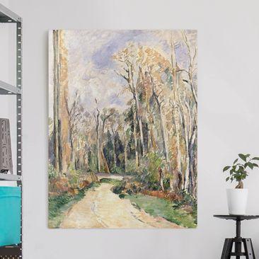 Produktfoto Leinwandbild - Paul Cézanne - Weg am Waldeingang - Hoch 4:3, vergrößerte Ansicht in Wohnambiente, Artikelnummer 211716-XWA