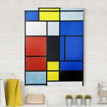 Produktfoto Leinwandbild - Piet Mondrian - Tableau No. 1 - Hoch 4:3, vergrößerte Ansicht in Wohnambiente, Artikelnummer 211733-XWA