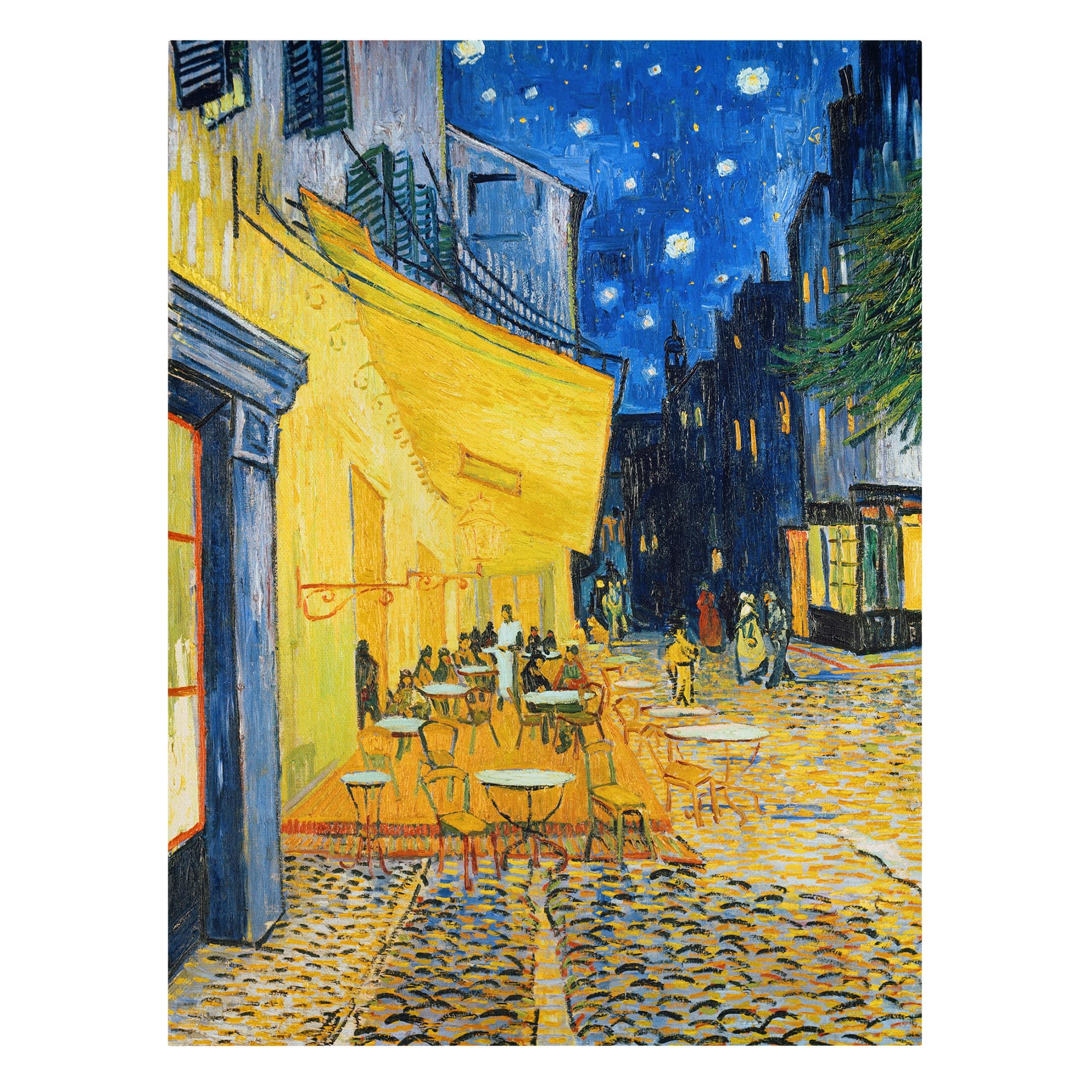 Leinwandbild Vincent Van Gogh Cafe Terrasse Am Abend In Arles