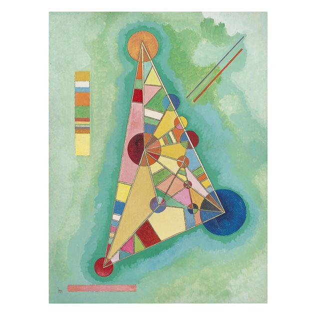 Produktfoto Leinwandbild - Wassily Kandinsky - Bunt im Dreieck - Hoch 4:3, Frontalansicht, Artikelnummer 211758-FF