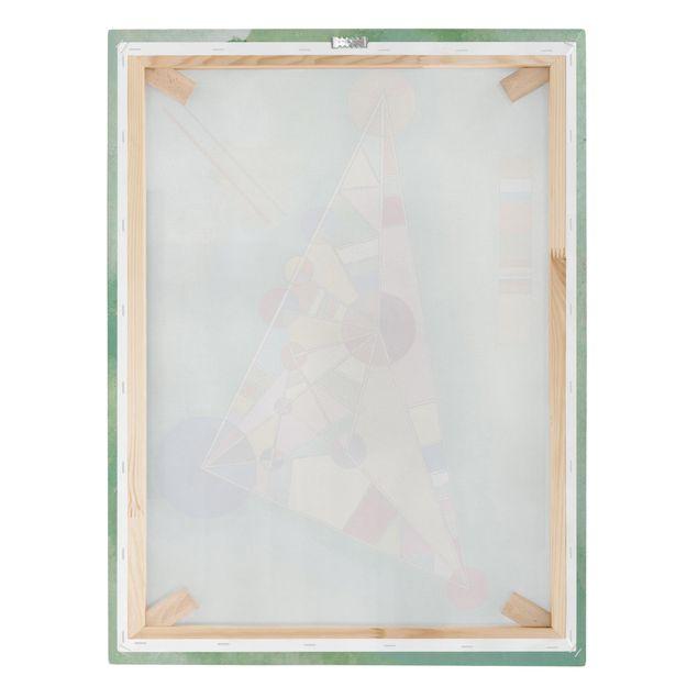 Produktfoto Leinwandbild - Wassily Kandinsky - Bunt im Dreieck - Hoch 4:3, Keilrahmen Rückseite, Artikelnummer 211758-FB