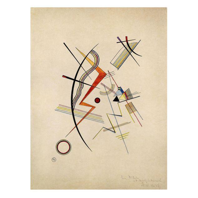 Produktfoto Leinwandbild - Wassily Kandinsky - Jahresgabe für die Kandinsky-Gesellschaft - Hoch 4:3, Frontalansicht, Artikelnummer 211759-FF