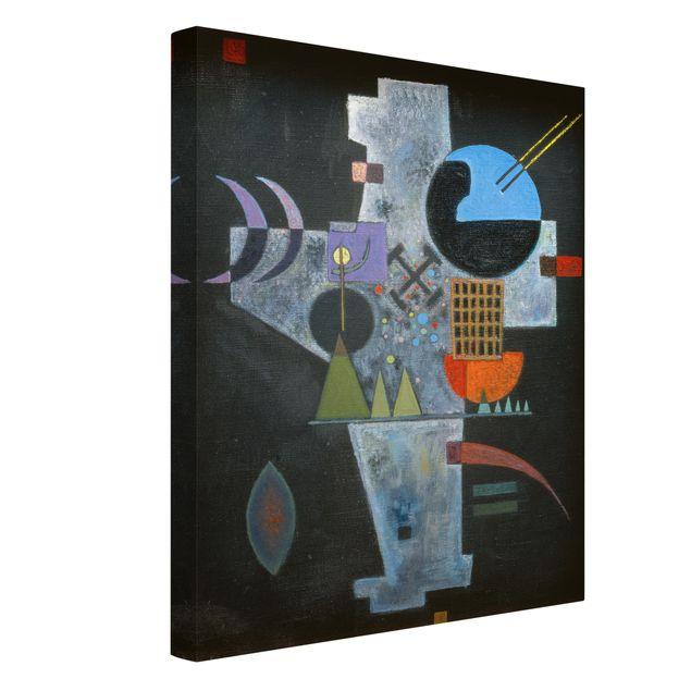 Produktfoto Leinwandbild - Wassily Kandinsky - Kreuzform - Hoch 4:3, Spiegelkantendruck links, Artikelnummer 211760-FL