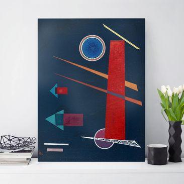 Produktfoto Leinwandbild - Wassily Kandinsky - Mächtiges Rot - Hoch 4:3, vergrößerte Ansicht in Wohnambiente, Artikelnummer 211761-XWA