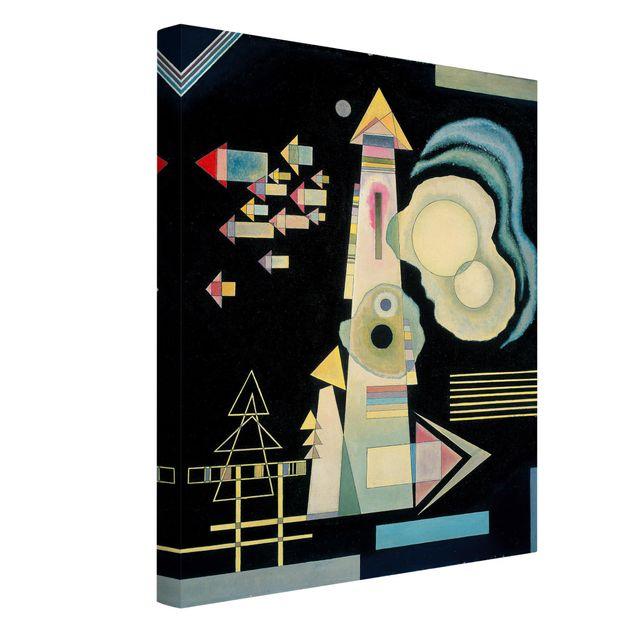 Produktfoto Leinwandbild - Wassily Kandinsky - Pfeile - Hoch 4:3, Spiegelkantendruck links, Artikelnummer 211762-FL