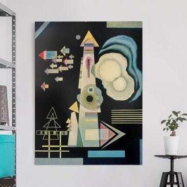 Produktfoto Leinwandbild - Wassily Kandinsky - Pfeile - Hoch 4:3, vergrößerte Ansicht in Wohnambiente, Artikelnummer 211762-XWA