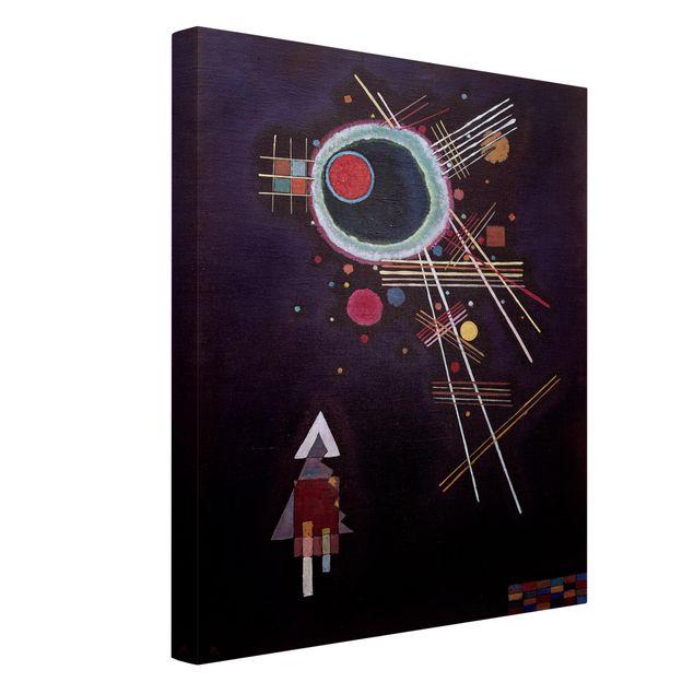 Produktfoto Leinwandbild - Wassily Kandinsky - Strahlenlinien - Hoch 4:3, Spiegelkantendruck links, Artikelnummer 211763-FL