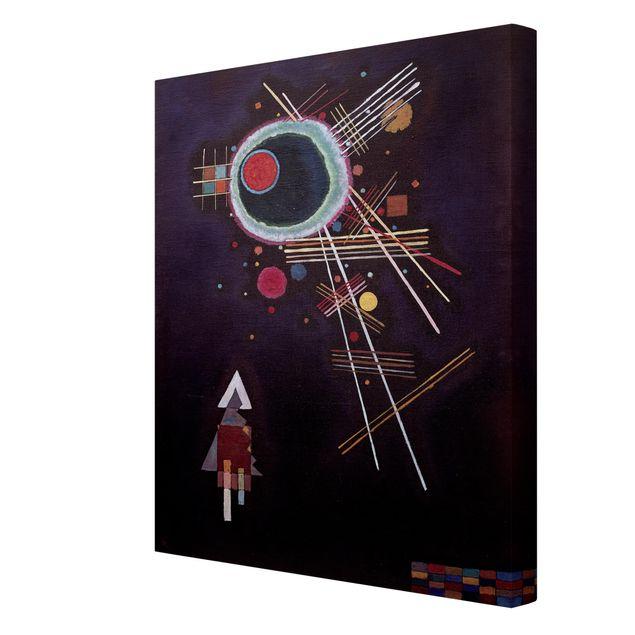 Produktfoto Leinwandbild - Wassily Kandinsky - Strahlenlinien - Hoch 4:3, Spiegelkantendruck rechts, Artikelnummer 211763-FR