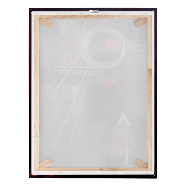 Produktfoto Leinwandbild - Wassily Kandinsky - Strahlenlinien - Hoch 4:3, Keilrahmen Rückseite, Artikelnummer 211763-FB