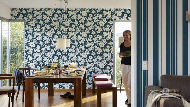 Produktfoto Esprit Blumentapete - Fall in Love Blau-Creme - Esprit Home 12
