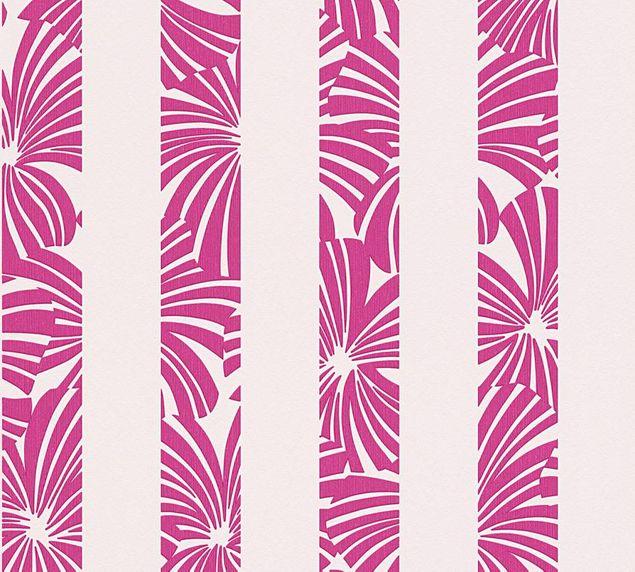 Esprit mustertapete play in summer grau rot lila esprit home 12 - Muster tapete lila grau ...