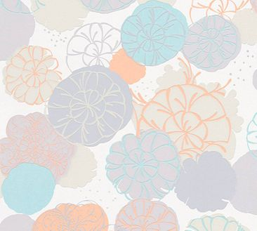 Produktfoto Esprit Tapete - Dream of Spring Grau-Grün-Orange - Esprit Home 12