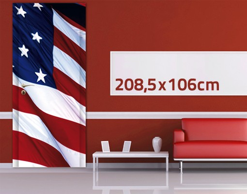 Produktfoto TürTapete Stars and Stripes