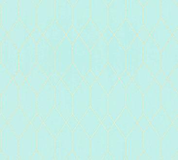 Immagine del prodotto Carta da parati con disegni Esprit - Eco of Nature Blu-Verde-Metallizzato - Esprit Home 12