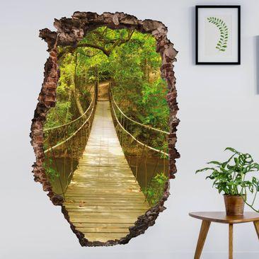 Immagine del prodotto Adesivo murale 3D - Jungle Bridge - verticale 3:2