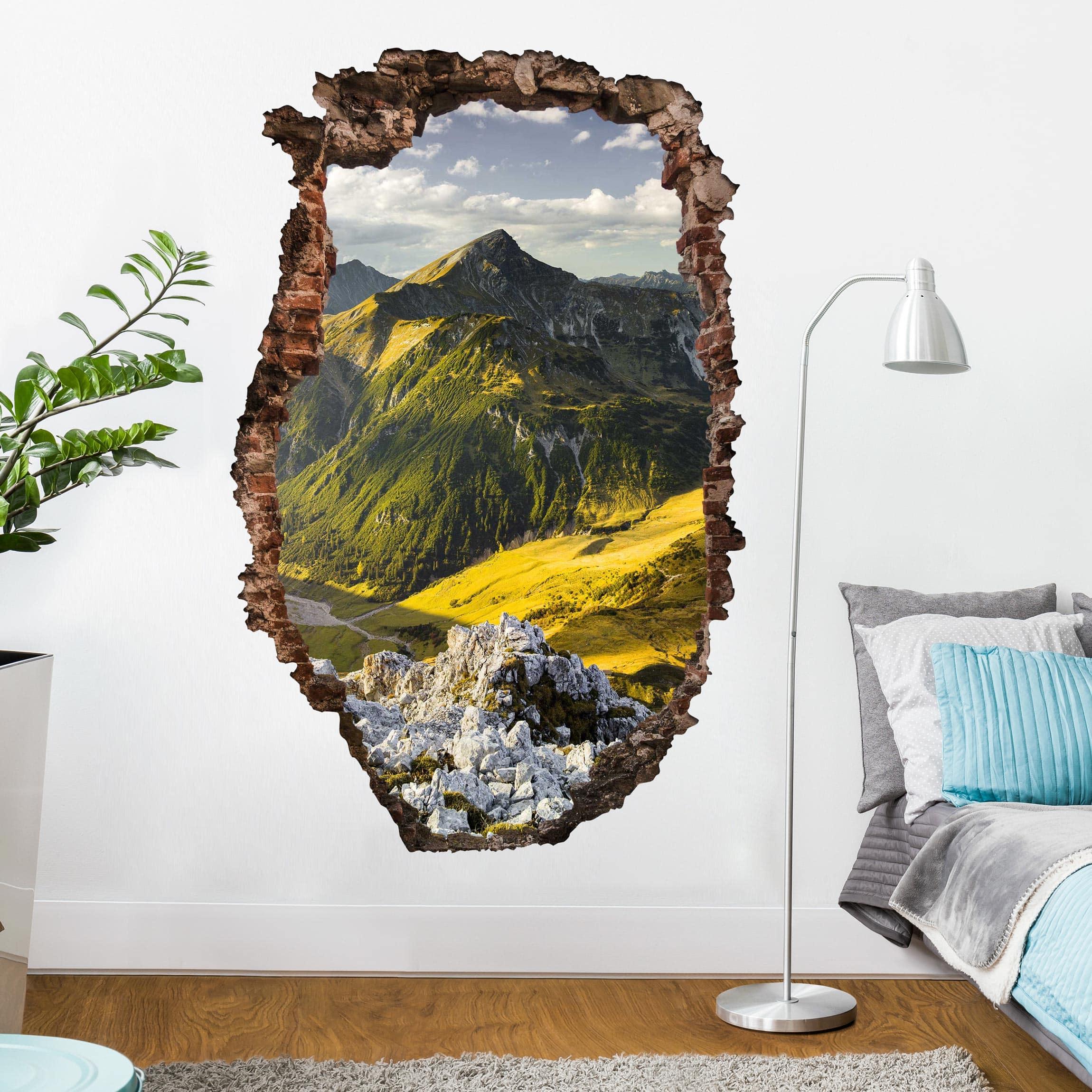 3d Wandtattoo Berge Und Tal Der Lechtaler Alpen In Tirol Hoch 3 2