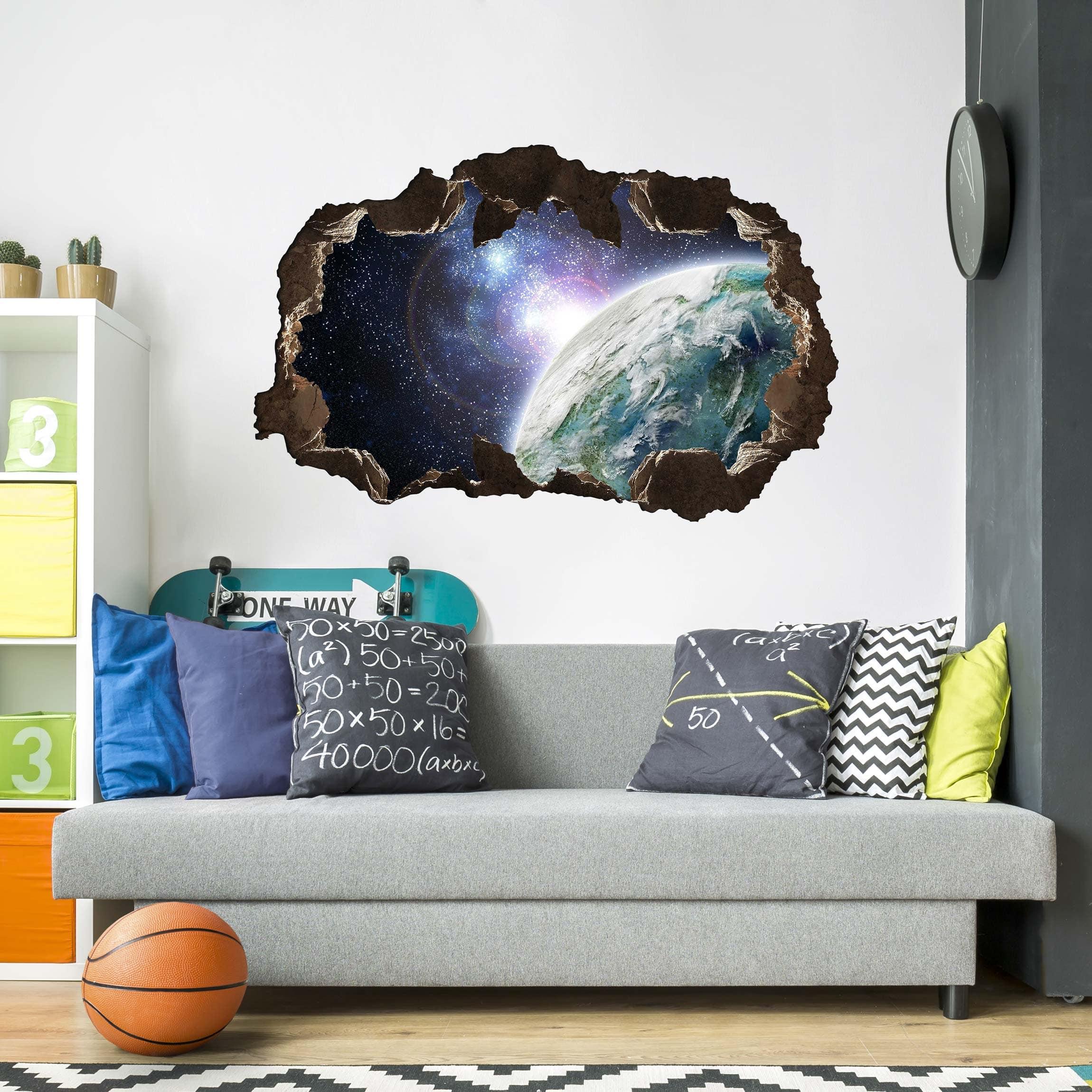 3D Wandtattoo Galaxy Light Quer 2 3