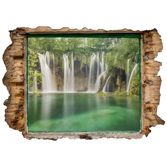 Produktfoto 3D Wandtattoo - Wasserfall Plitvicer Seen - Quer 2:3