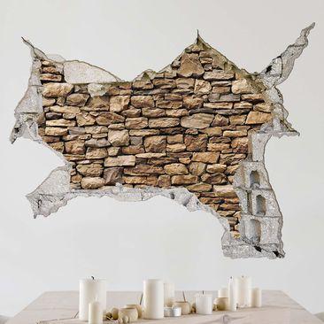 Produktfoto 3D Wandtattoo - Amerikanische Steinwand - Quer 3:4