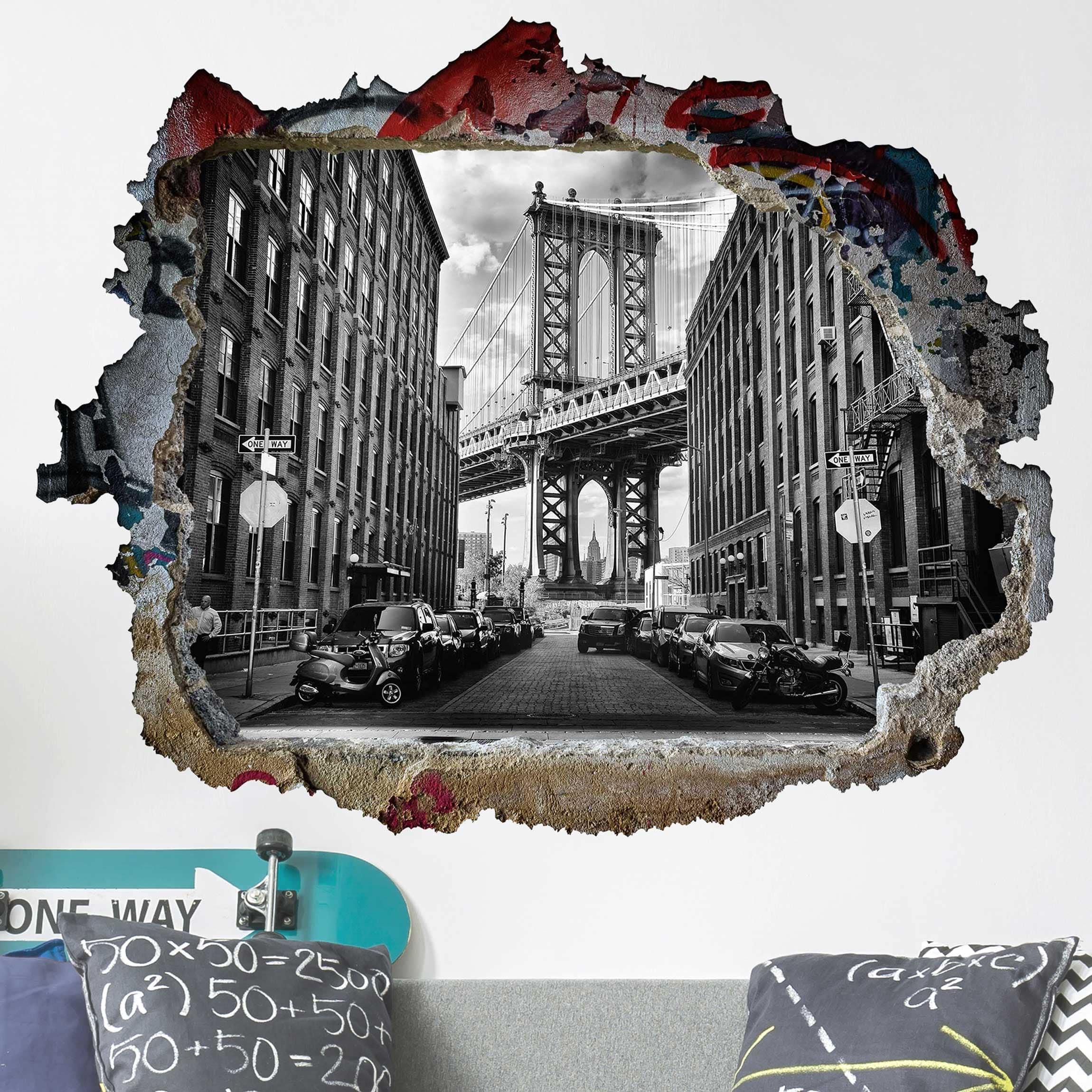 Manhattan Wandfarbe: Manhattan Bridge In America