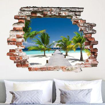 Immagine del prodotto Adesivo murale 3D - Catwalk To Paradise - orizzontale 3:4