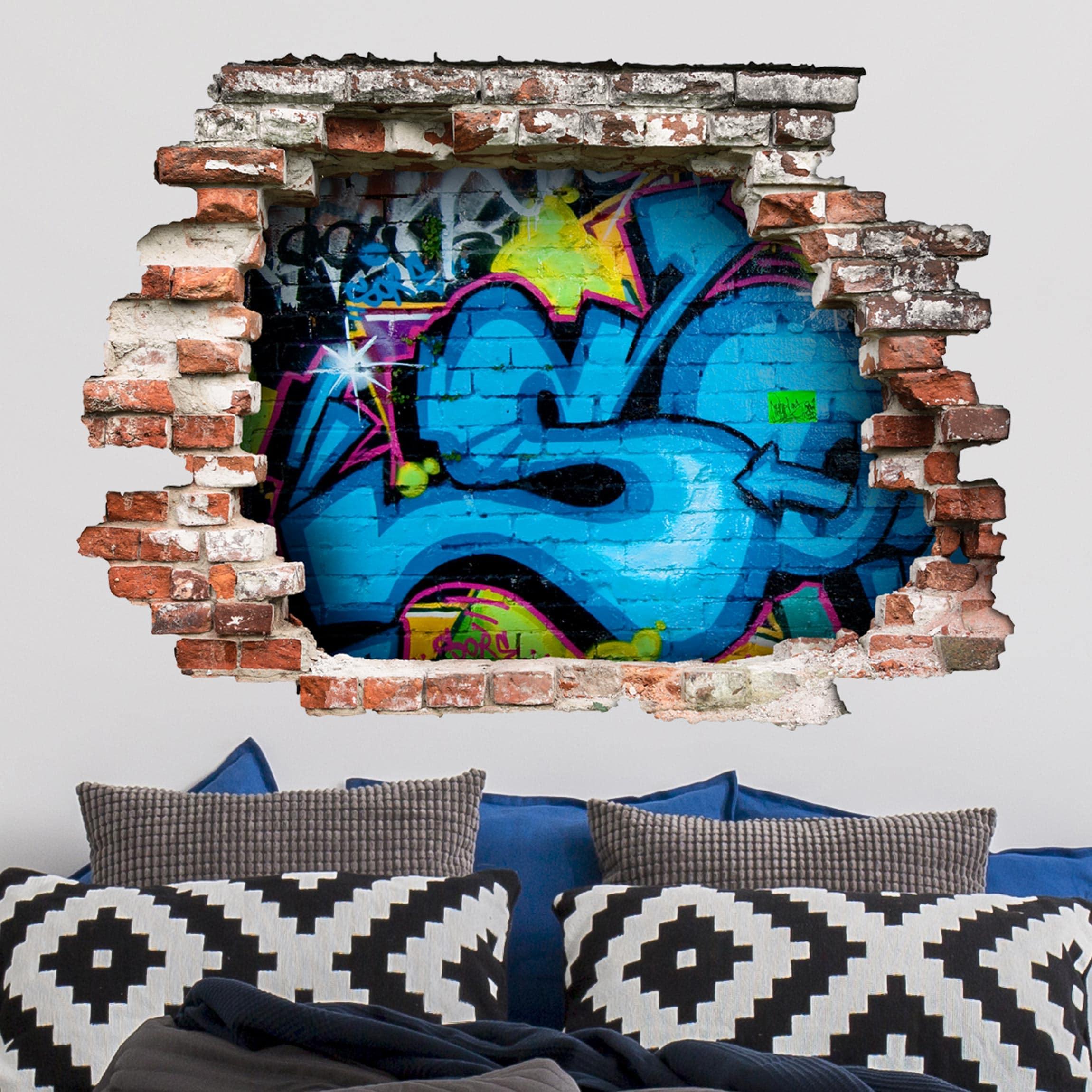 3d Wandtattoo Colours Of Graffiti Quer 3 4