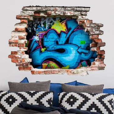 Produktfoto 3D Wandtattoo - Colours of Graffiti - Quer 3:4
