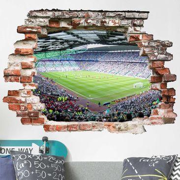 Produktfoto 3D Wandtattoo - Fußballstadion - Quer 3:4