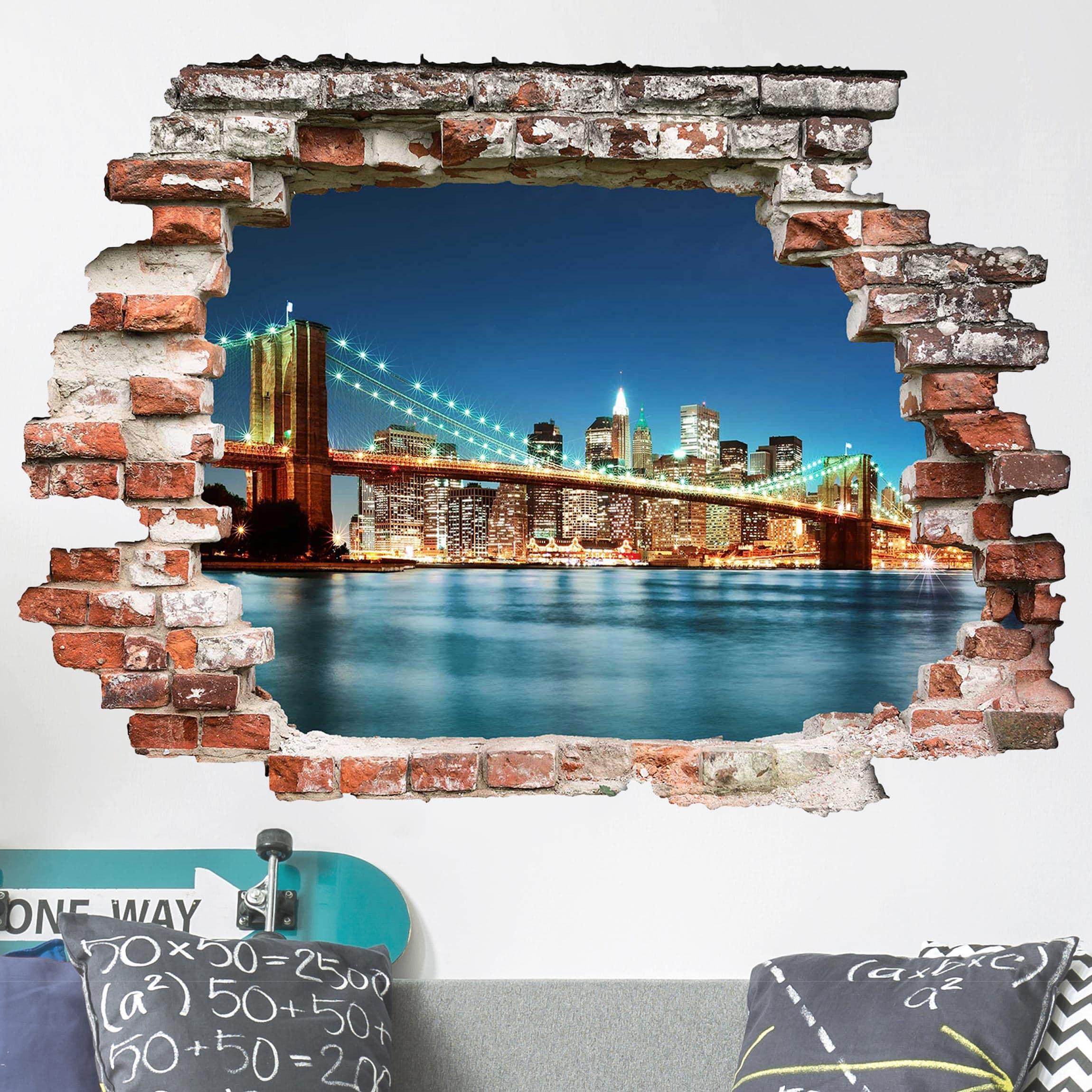 Manhattan Wandfarbe: Nighttime Manhattan Bridge