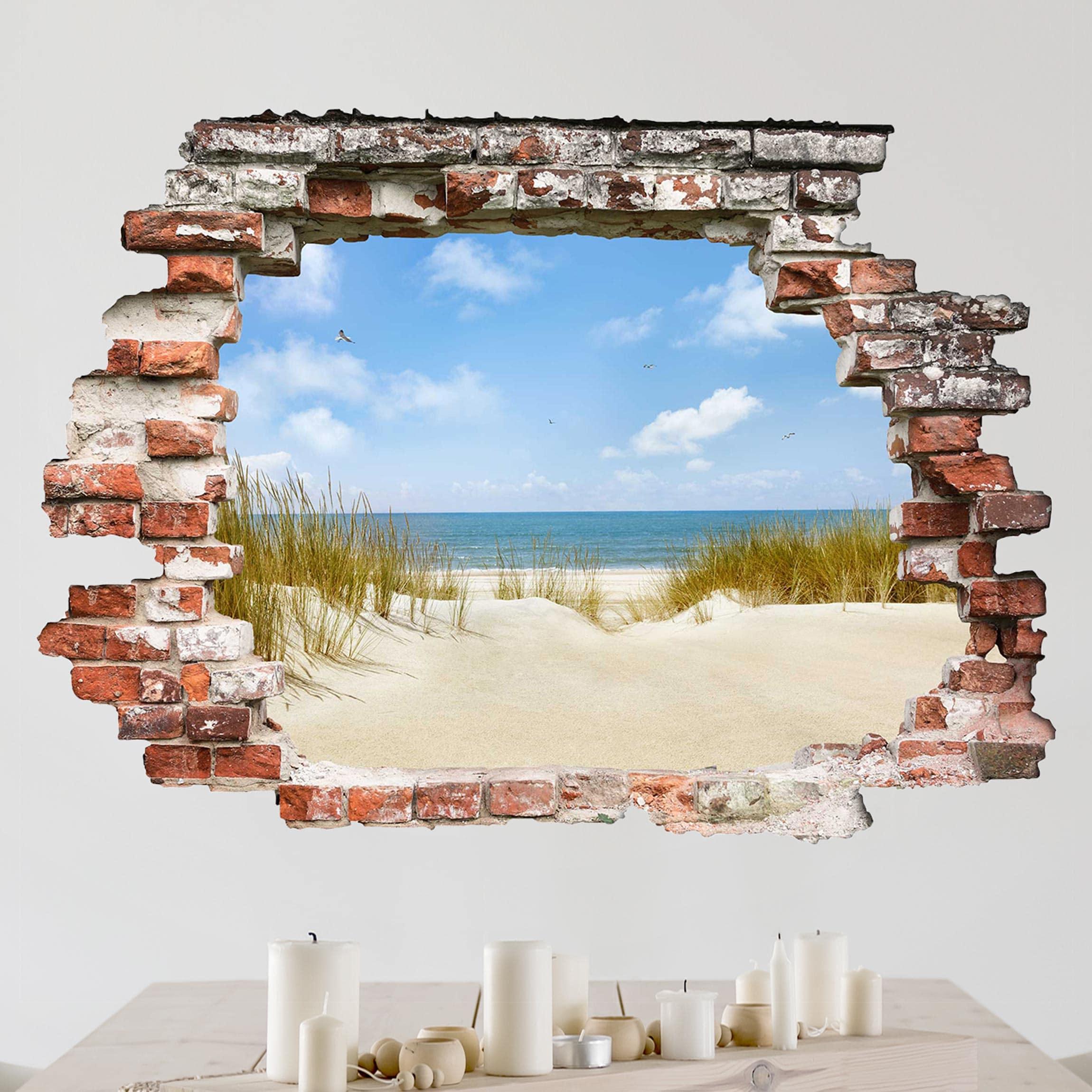 3D Wandtattoo Strand an der Nordsee Quer 3 4