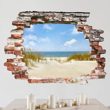 Immagine del prodotto Adesivo murale 3D - Beach On The North Sea - orizzontale 3:4